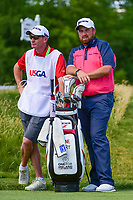 Shane Lowry (IRL) waits on the 12th tee during Thursday's round 1 of the 117th U.S. Open, at Erin Hills, Erin, Wisconsin. 6/15/2017.<br /> Picture: Golffile | Ken Murray<br /> <br /> <br /> All photo usage must carry mandatory copyright credit (&copy; Golffile | Ken Murray)