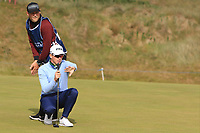 Brandon Stone (RSA) on the 1st green during Round 1 of the Dubai Duty Free Irish Open at Ballyliffin Golf Club, Donegal on Thursday 5th July 2018.<br /> Picture:  Thos Caffrey / Golffile