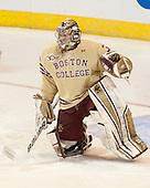 Thatcher Demko (BC - 30) - The Boston College Eagles defeated the University of Denver Pioneers 6-2 in their NCAA Northeast Regional semi-final on Saturday, March 29, 2014, at the DCU Center in Worcester, Massachusetts.