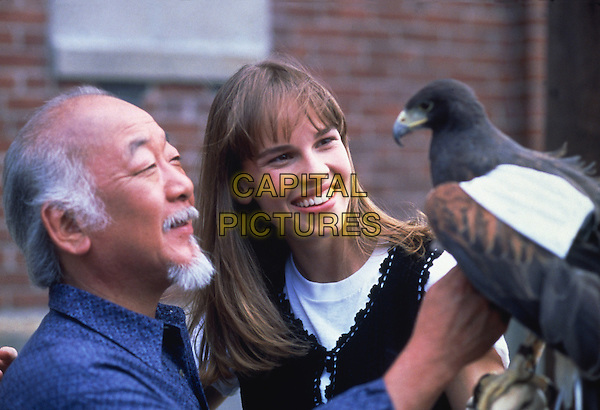 Pat Morita & Hilary Swank.in The Next Karate Kid.*Filmstill - Editorial Use Only*.CAP/NFS.Supplied by Capital Pictures.