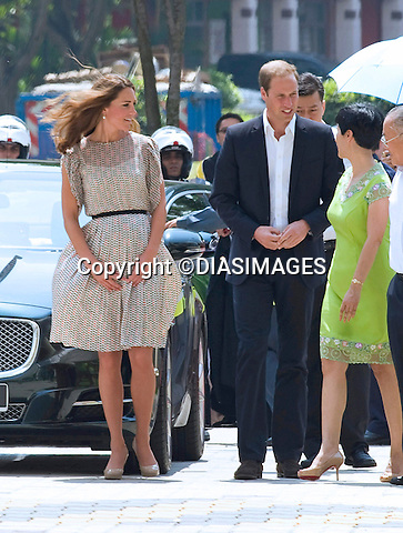 "CATHERINE, DUCHESS OF CAMBRIDGE AND PRINCE WILLIAM.attend a cultural event in Queenstown, Singapore..They couple were welcomed by a large crowd during their visit_12/09/2012.Mandatory credit photo: ©DIASIMAGES/NEWSPIX INTERNATIONAL..(Failure to credit will incur a surcharge of 100% of reproduction fees)..                **ALL FEES PAYABLE TO: ""NEWSPIX INTERNATIONAL""**..IMMEDIATE CONFIRMATION OF USAGE REQUIRED:.DiasImages, 31a Chinnery Hill, Bishop's Stortford, ENGLAND CM23 3PS.Tel:+441279 324672  ; Fax: +441279656877.Mobile:  07775681153.e-mail: info@newspixinternational.co.uk"