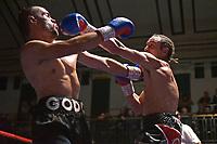 Alan Ratibb (grey shorts) defeats Ivan Godor during a Boxing Show at York Hall on 30th November 2018