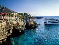 Jamaika, Westmoreland, Kueste bei Negril, Rick's Cafe | Jamaica, Westmoreland, coastline at Negril, Rick's Cafe