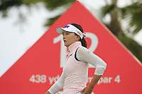 Jin Young Ko (KOR) in action on the 12th during Round 1 of the HSBC Womens Champions 2018 at Sentosa Golf Club on the Thursday 1st March 2018.<br /> Picture:  Thos Caffrey / www.golffile.ie<br /> <br /> All photo usage must carry mandatory copyright credit (&copy; Golffile | Thos Caffrey)