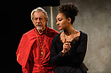 Troupe presents THE CARDINAL, by James Shirley, directed by Justin Audibert, at Southwark Playhouse. Picture shows: Stephen Boxer (Cardinal), Natalie Simpson (Duchess Rosaura).