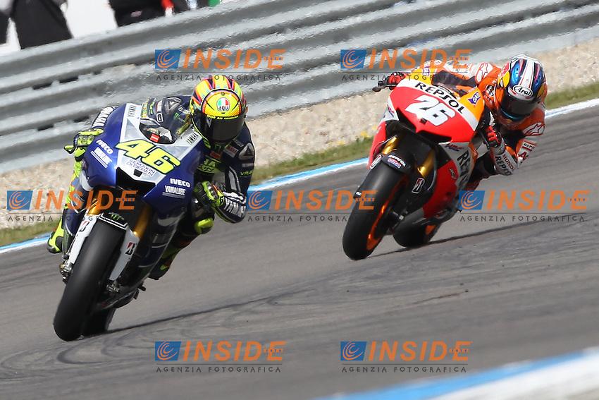 29-06-2013 Assen (NDL)<br /> Motogp world championship<br /> Valentino Rossi - Yamaha factory team and Dani Pedrosa - Repsol Honda team  <br /> Foto Semedia / Insidefoto