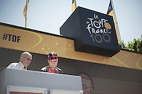 Cadel Evans (AUS) signing in<br /> <br /> Tour de France 2013<br /> stage 16: Vaison-la-Romaine to Gap, 168km