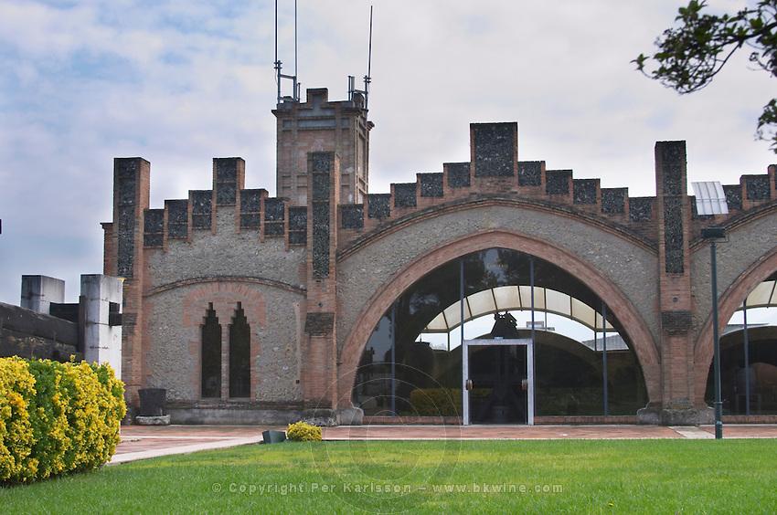 Winery building. Codorniu, Sant Sadurni d'Anoia, Penedes, Catalonia, Spain