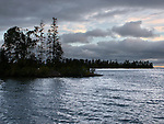 A Stormy And Darkening Sky Over Copper Harbor At Sunset, Michigan, Upper Peninsula, Lake Superior, USA : Low Res File - 8X10 To 11X14 Or Smaller, Larger If Viewed From A Distance