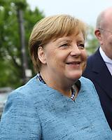 Bundeskanzlerin Angela Merkel (CDU) kommt an - 03.05.2018: Festakt zu 350 Jahre Merck in Darmstadt mit Bundeskanzlerin Angela Merkel