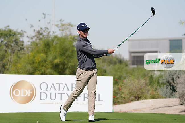 Brandon Stone (RSA) on the 2nd during the Pro-Am of the Commercial Bank Qatar Masters 2020 at the Education City Golf Club, Doha, Qatar . 04/03/2020<br /> Picture: Golffile | Thos Caffrey<br /> <br /> <br /> All photo usage must carry mandatory copyright credit (© Golffile | Thos Caffrey)