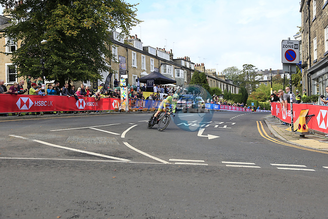 Jan Tratnik (SLO) in action during the Men Elite Individual Time Trial of the UCI World Championships 2019 running 54km from Northallerton to Harrogate, England. 25th September 2019.<br /> Picture: Eoin Clarke | Cyclefile<br /> <br /> All photos usage must carry mandatory copyright credit (© Cyclefile | Eoin Clarke)