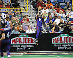 The New Orleans Voodoo fall to the Orlando Predators, 47-34, in the New Orleans Arena.