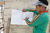 Grace's uncle showing us his house, Monte Alto, San Miguel La Labor, Estado de Mexico,  Mexico
