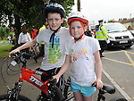 Jake and Paige Gillespie who took part in the La Tour de Bog annual Ardee cycle. Photo: Colin Bell/pressphotos.ie