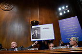 Sen. Patrick Leahy, d-Vt., questions Supreme Court nominee Brett Kavanaugh as he testifies before the Senate Judiciary Committee on Capitol Hill in Washington, Thursday, Sept. 27, 2018. (AP Photo/Andrew Harnik, Pool)