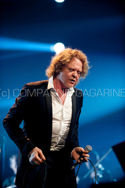 Simply Red singer Mick Hucknall at the Night Of The Proms in Antwerp (Belgium, 10/11/2011)