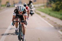 Oliver Naesen (BEL/AG2R-La Mondiale) putting the effort in (the breakaway)<br /> <br /> 98th Brussels Cycling Classic 2018<br /> One Day Race:  Brussels > Brussels (201km)