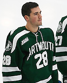 Charlie Mosey (Dartmouth - 28) - The Harvard University Crimson tied the visiting Dartmouth College Big Green 3-3 in both team's first game of the season on Saturday, November 1, 2014, at Bright-Landry Hockey Center in Cambridge, Massachusets.