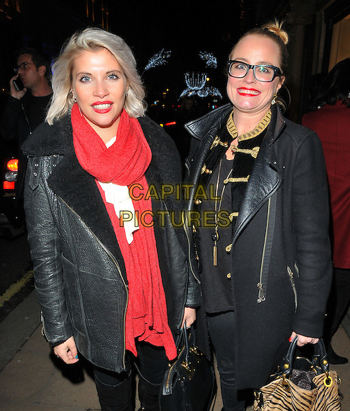 Pips Taylor and Erica Bergsmeds at the Jean-David Malat: BritARTnia private view, Opera Gallery, New Bond Street, London, England, UK, on Tuesday 22 November 2016. <br /> CAP/CAN<br /> &copy;CAN/Capital Pictures