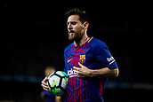 9th September 2017, Camp Nou, Barcelona, Spain; La Liga football, Barcelona versus Espanyol; Leo Messi from Argentina of FC Barcelona holds the game ball