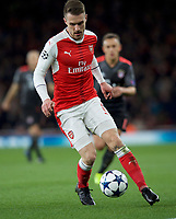 Aaron Ramsey of Arsenal during the UEFA Champions League round of 16 match between Arsenal and Bayern Munich at the Emirates Stadium, London, England on 7 March 2017. Photo by Alan  Stanford / PRiME Media Images.