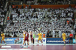 handball wordl cup match between Qatar vs Spain.  stadium. 2015/01/21. Doha. Qatar. Alberto de Isidro.Photocall 3000
