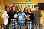 "Presentation Secondary School, Tralee hosted ""An Audience With Tomi Reichental – Author, Film maker and Holocaust survivor at the school on Tuesday. L-r, Joanna O'Flynn, Edel Campion, Aisling O'Connell, Tommy Reichental, Ava O'Connell Buckley, Rachel Kilgallen and Norma Foley."