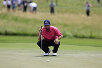 Thomas Aiken (RSA) on the 10th green during Saturday's Round 3 of the 117th U.S. Open Championship 2017 held at Erin Hills, Erin, Wisconsin, USA. 17th June 2017.<br /> Picture: Eoin Clarke | Golffile<br /> <br /> <br /> All photos usage must carry mandatory copyright credit (&copy; Golffile | Eoin Clarke)