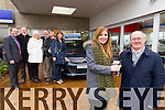 Hazel Mooney, Manor West winner of the Tralee Credit Union Members car draw being presented with her car by Mike Lynch, Tralee Credit Union, at Billy Naughtons Garage on Thursday also in photo are Jimmy O'Sullivan, Billy Naughton Volvo, Paul Mooney, Paula Mooney, Billy Naughton, Steve Mooney and Phil Mooney.