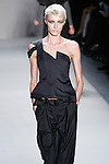 Milena Ilina walks the runway in a Nicole Miller Fall 2011 outfit, during Mercedes-Benz Fashion Week.
