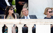 Former United States Senate Majority Leader Bob Dole (Republican of Kansas) attends a Memorial Day event at Arlington National Cemetery, May 25, 2015 in Arlington, Virginia. <br /> Credit: Olivier Douliery / Pool via CNP