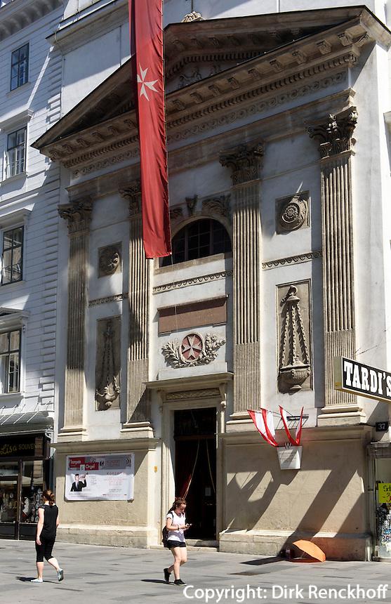 Malteserkirche, K&auml;rtner Str 37, Wien, &Ouml;sterreich, UNESCO-Weltkulturerbe<br /> Maltese Church, K&auml;rtner Str. 37, Vienna, Austria, world heritage