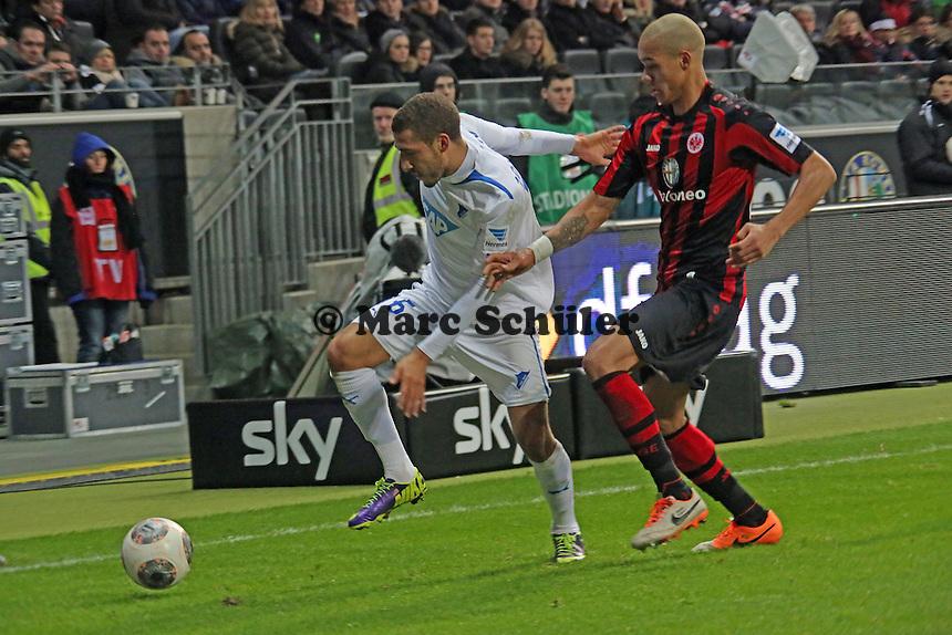 Fabian Johnson (Hoffenheim) gegen Bamba Anderson (Eintracht) - Eintracht Frankfurt vs. TSG 1899 Hoffenheim, Commerzbank Arena