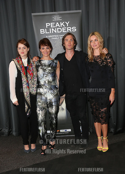 Sophie Rundle, Helen McCrory, Cillian Murphy and Annabelle Wallis arriving for the UK premiere of Peaky Blinders held at the BFI Southbank, London. 21/08/2013 Picture by: Henry Harris / Featureflash
