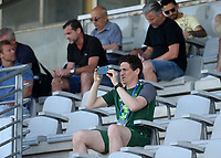 Republic of Ireland Coach, Keith Andrews, takes a photo from the main stand during Republic Of Ireland Under-21 vs Mexico Under-21, Tournoi Maurice Revello Football at Stade Parsemain on 6th June 2019