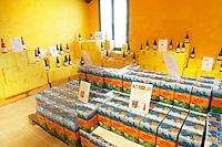 bag-in-box displays wine shop chateau de nages rhone france