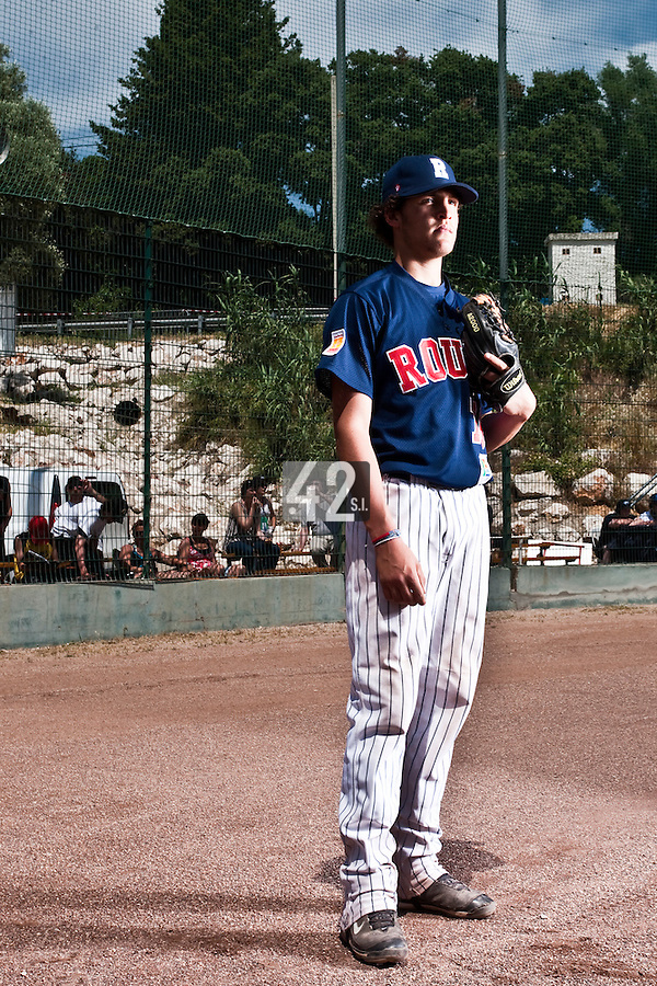 24 May 2009: Saad Anouar of Rouen poses prior to the final game during the 2009 challenge de France, a tournament with the best French baseball teams - all eight elite league clubs - to determine a spot in the European Cup next year, at Montpellier, France. Rouen wins 7-5 over Savigny.
