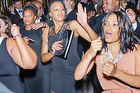 People dance at the MSNBC After Party at the United States Institute of Peace in Washington, DC. The party followed the annual White House Correspondents Association Dinner on Saturday, April 30, 2016. The party continued until about 3 AM on Sunday, May 1, 2016.