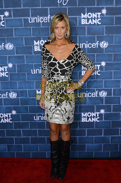 Lady Victoria Hervey.Montblanc Hosts Pre-Oscar Charity Brunch Benefiting UNICEF held at Hotel Bel-Air, Los Angeles, California, USA..February 23rd, 2013.full length dress boots hand on hip black white print  .CAP/ADM/TW.©Tonya Wise/AdMedia/Capital Pictures