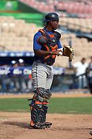 Daniel Flores participates in the MLB International Showcase at Estadio Quisqeya on February 22-23, 2017 in Santo Domingo, Dominican Republic.