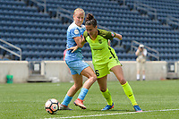 Bridgeview, IL - Sunday June 04, 2017: Alyssa Mautz, Carson Pickett during a regular season National Women's Soccer League (NWSL) match between the Chicago Red Stars and the Seattle Reign FC at Toyota Park.