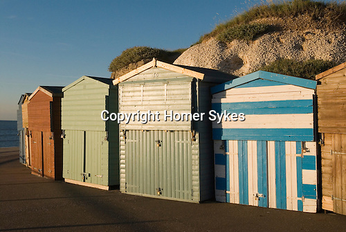 Beach huts at Westgate on Sea Kent Uk