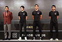 Japanese soccer players attend promotional event for DAZN
