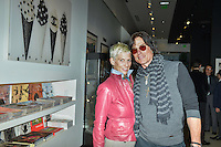 """Patricia Kelly and Ronn Moss at Mouche Gallery Presents the Opening of Artist Clara Hallencreutz's Exhibit """"Picture Global Warming"""" Photos by David Levin"""