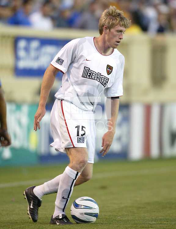 12 June 2004: John Wolyniec in action against Earthquakes at Spartan Stadium in San Jose, California.    Earthquakes defeated MetroStars, 3-1.  Mandatory Credit: Michael Pimentel / ISI