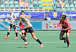 The Hague, Netherlands, June 13: During the field hockey placement match (Women - Place 7th/8th) between Korea and Germany on June 13, 2014 during the World Cup 2014 at Kyocera Stadium in The Hague, Netherlands. Final score 4-2 (2-0)  (Photo by Dirk Markgraf / www.265-images.com) *** Local caption *** Kristina Hillmann #9 of Germany, Hyoju An #8 of Korea