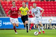 KALMAR, SWEDEN - JULY 01: Simon Kroon of Ostersunds FK during the Allsvenskan match between Kalmar FF and Ostersunds FK at Guldfageln Arena on July 1, 2020 in Kalmar, Sweden. (Photo by David Lidström Hultén/LPNA)