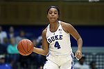 29 January 2017: Duke's Lexie Brown. The Duke University Blue Devils hosted the Old Dominion University Monarchs at Cameron Indoor Stadium in Durham, North Carolina in a 2016-17 Division I Women's Basketball game. Duke won the game 71-43.