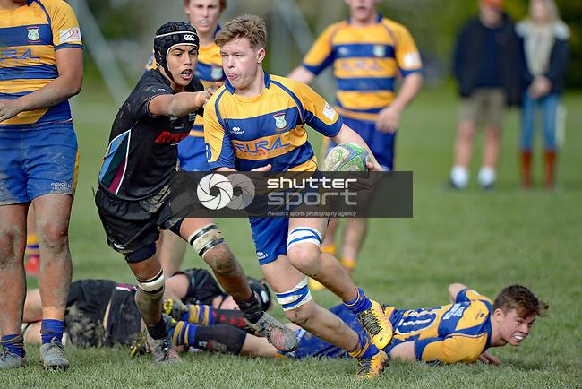 NELSON, NEW ZEALAND - JULY 8: Waimea Combined v Roncalli College, Waimea College, July 8, 2017, Nelson, New Zealand. (Photo by: Barry Whitnall Shuttersport Limited)